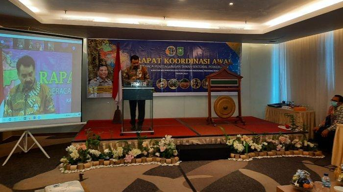 Kanwil BPN Riau Gelar Rapat Koordinasi Neraca Penatagunaan Tanah Sektor Perkebunan di Riau