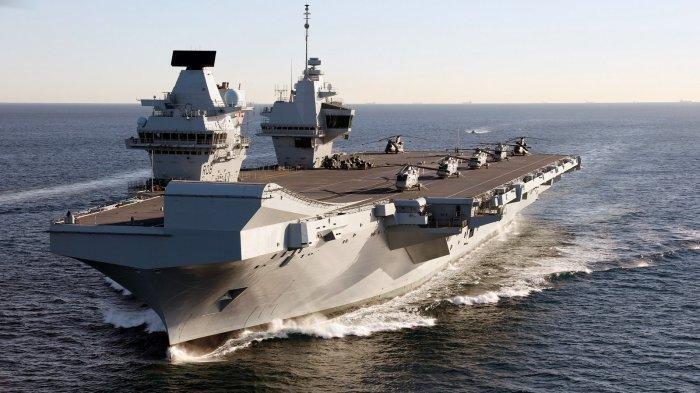 China Gelar Latihan Militer di Laut China Selatan saat Armada Kapal Induk Inggris Tiba di Singapura
