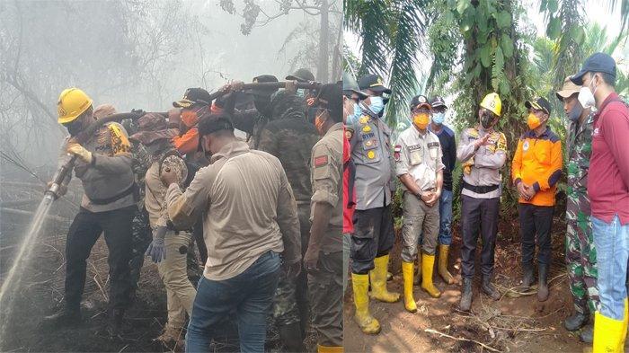 Tinjau Karhutla di Desa Kalemantan, Kapolda Riau Titip Kebutuhan Petugas Lapangan Ke Wabup Bengkalis