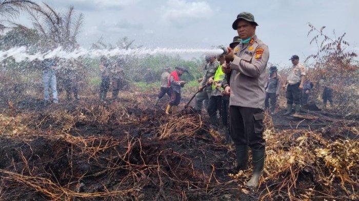 Enam Hari Lakukan Pemadaman dan Dibantu Hujan Akhirnya Api di Penyaguhan Inhu Padam