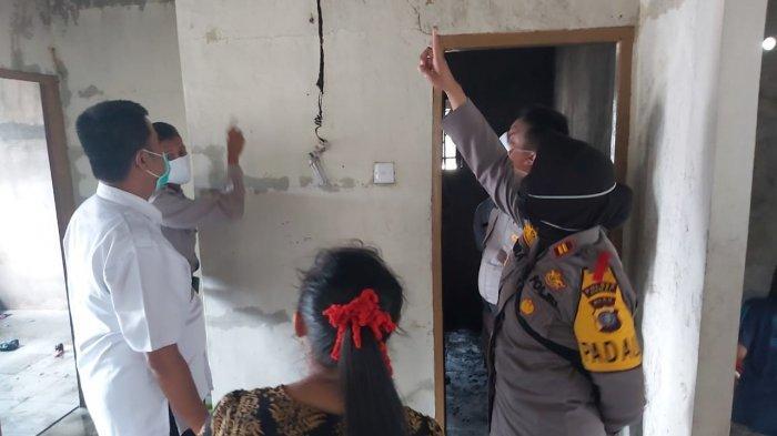Korsleting Pada Stop Kontak,  Satu Petak Rumah Warga Bukit Kapur Dumai Terbakar