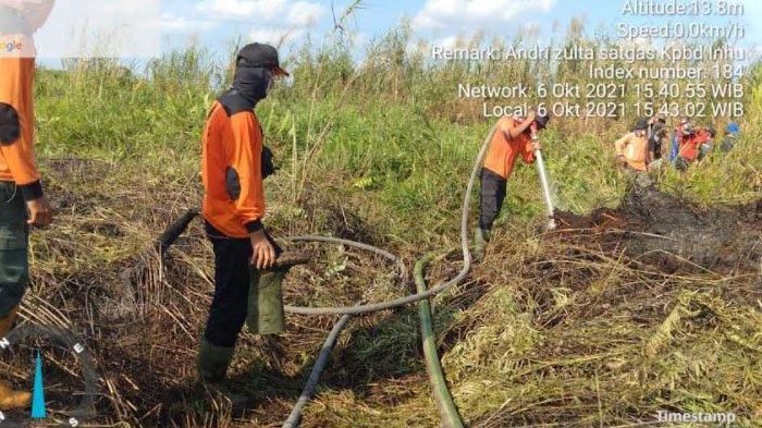 Karhutla di Indragiri Hulu, Lima Hektar Lahan di Kuala Cenaku Terbakar