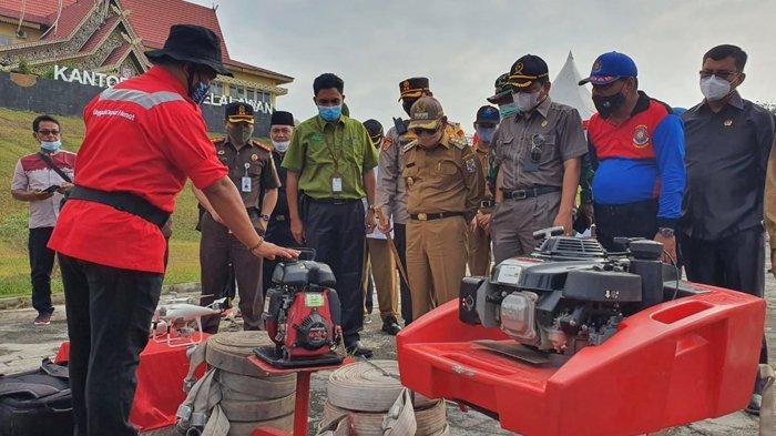 Karhutla di Riau, Pelalawan Berstatus Siaga Darurat Karhutla, Gelar Apel Kesiapsiagaan Peralatan