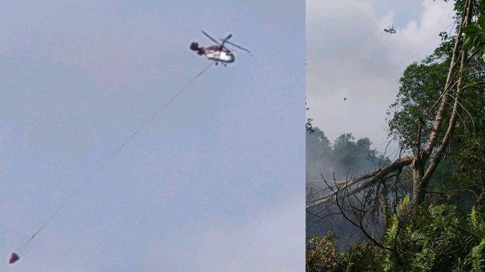 Karhutla di Riau Terus Membara, Tim Darat dan Dua Helikopter WB Keroyok Karhutla di Teluk Meranti