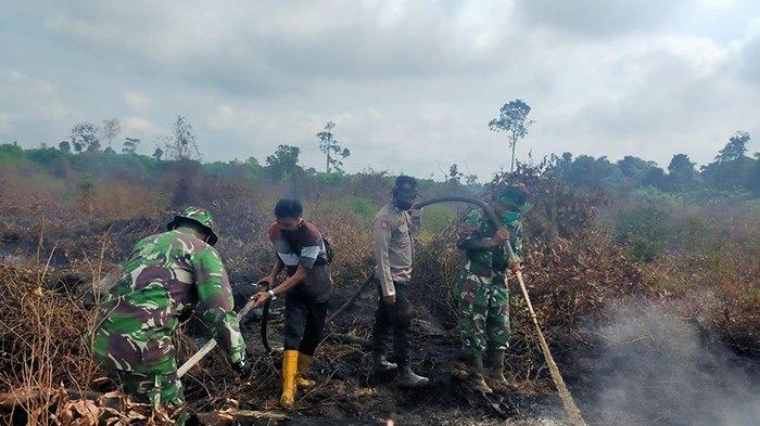 Temukan Gumpalan Asap Karhutla di Siak Saat Patroli, MPA Langsung Gercep Padamkan Api