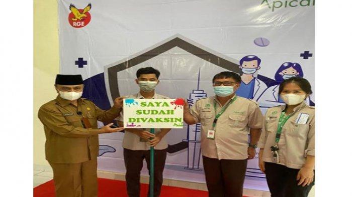 Apical Gelar Vaksinasi Gotong Royong Perdana di Dumai,Sukseskan Pelaksanaan Vaksin Nasional