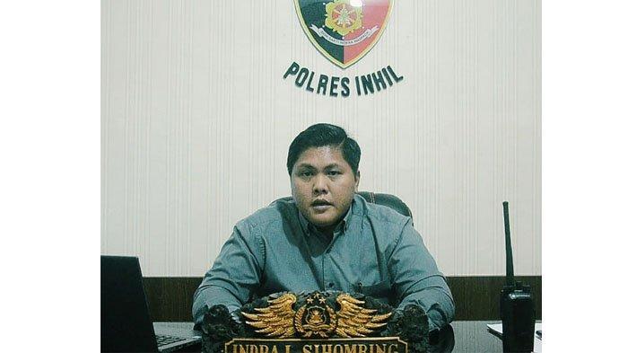 Kasat Reskrim Polres Inhil AKP Indra Lamhot Sihombing, SH.