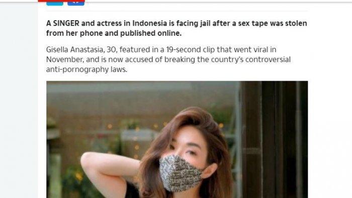 Wow! Media Asing Beritakan Kasus Video Syur Gisel, Begini Kata The Sun