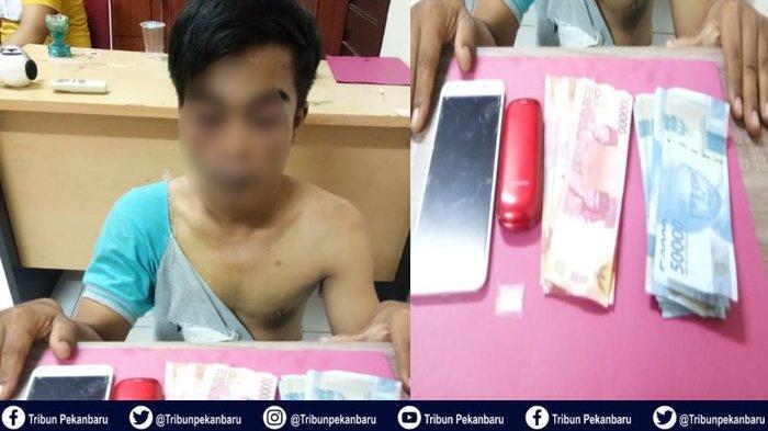 Kasus Narkoba di Riau, Muka Pelaku Memar dan Baju Robek saat Dibawa ke Polres Siak, Ini Kejelasannya