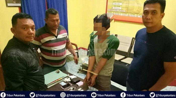 Kasus Narkoba di Riau, Polisi Tangkap Pemuda 30 Tahun, Terduga Pelaku Penyalahgunaan Narkoba