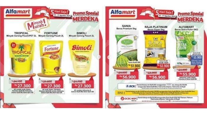 Buruan Promo Alfamart Spesial Merdeka Hari Ini 15 Agustus, Minyak Murah dan Beras Promo