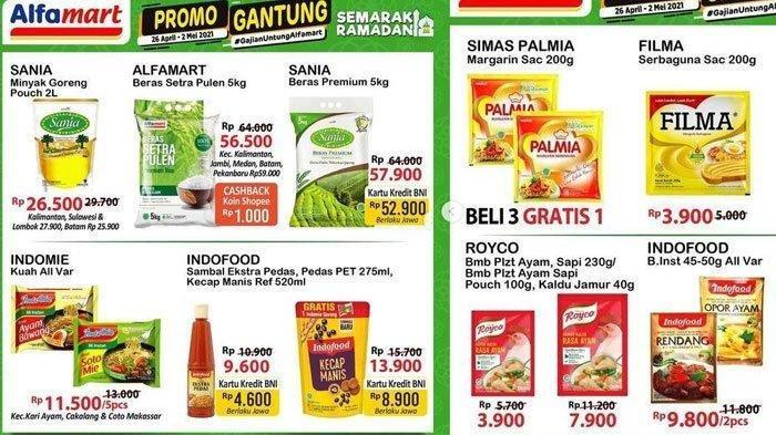 Promo Alfamart Hari Ini 2 Mei 2021, Belanja Hemat Minyak Goreng, Beras, Popok, Sirup, Cek Katalognya