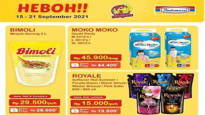 Promo JSM Indomaret Hari Ini 18 September 2021, Promo Heboh Minyak Goreng dan Popok, Super Hemat