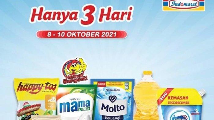 Promo Indomaret Hari Ini Minggu 10 Oktober 2021, Belanja Hemat Beras, Minyak Goreng hingga Popok