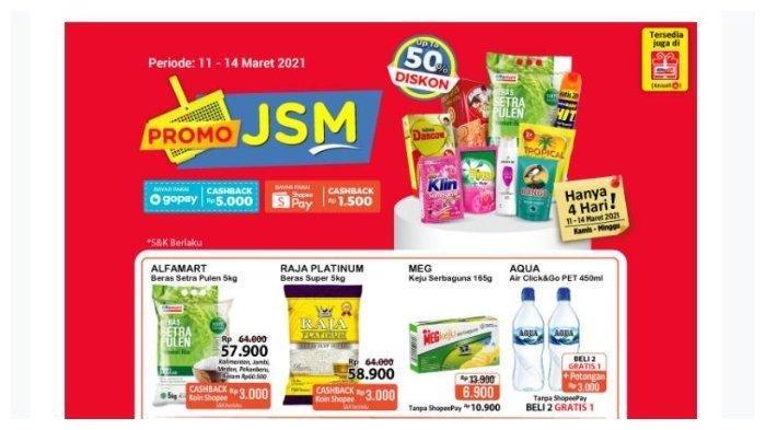 Katalog Promo JSM Alfamart. Katalog Promo JSM Alfamart Jumat, 12 Maret 2021: Diskon Beras, Minyak Goreng hingga Shampoo.