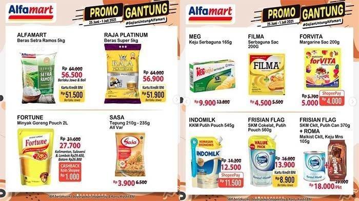 Promo Alfamart Hari Ini Minggu 27 Juni 2021, Harga Hemat Minyak Goreng hinga Popok, Cek Katalognya