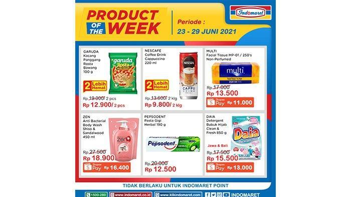 Katalog Promo Product of The Week Indomaret 23 hingga 29 Juni 2021.