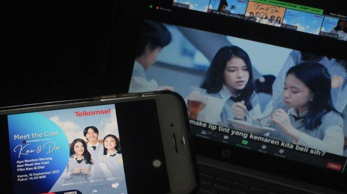 Rilis Drama Orisinal MAXstream 'Kau dan Dia Movie', Telkomsel Gelar Meet the Cast