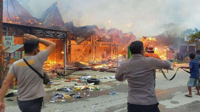 Melayang Rp 300 Juta, Harta Benda Korban Kebakaran 5 Ruko Permanen dan 1 Warung Ludes jadi Arang
