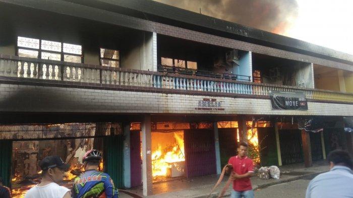 Belum Diketahui Kerugiaan Akibat Kebakaran Lima Ruko di Kuansing