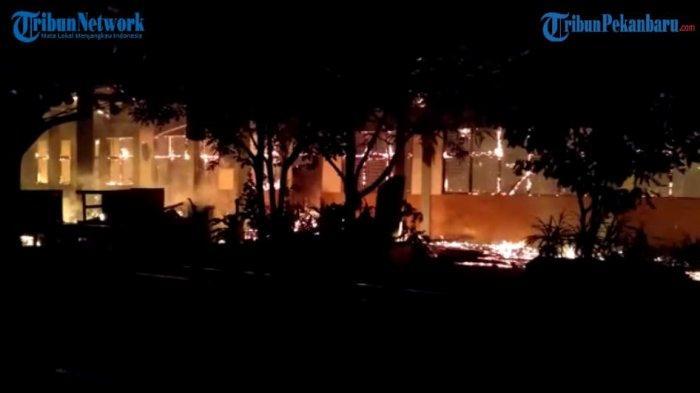 Kebakaran di Inhu Hanguskan 5 Ruang di SDN 012 Candi Rejo, Disdikbud Rencana Bangun Ruang Baru