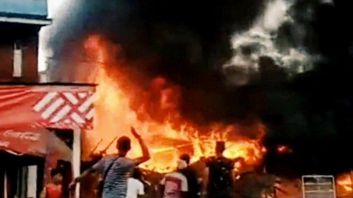 Kebakaran di Inhil, Warung yang Ditinggal Kosong Pemiliknya Dilalap Api