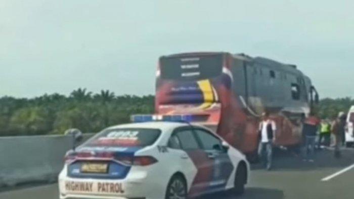Kecelakaan Bus Rapi dan Bus Makmur di Tol Pekanbaru-Dumai, Ada Korban yang Terjebak Dalam Bus