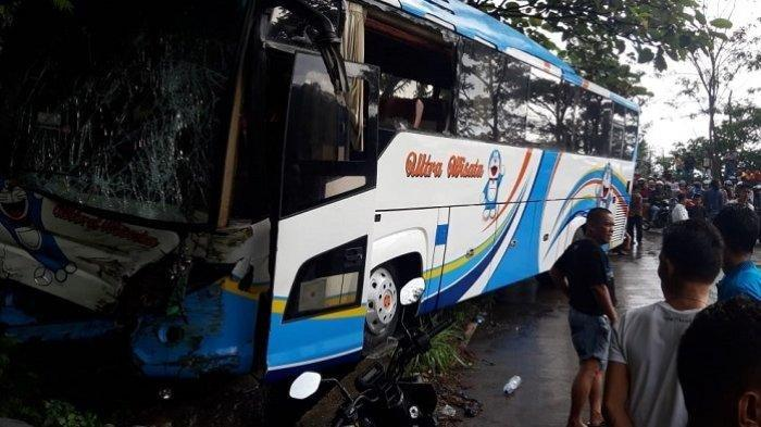 VIDEO Detik-detik Bus Tabrak Truk Tangki BBM di Jalan Lintas Padang - Solok Sitinjau Lauik
