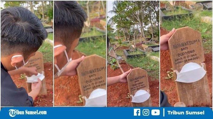 Batu Nisan Kuburan Ibunya Dipakaikan Masker, Terkuak Fakta Pilu Sebenarnya, 'Sehat-sehat Di sana Ma'