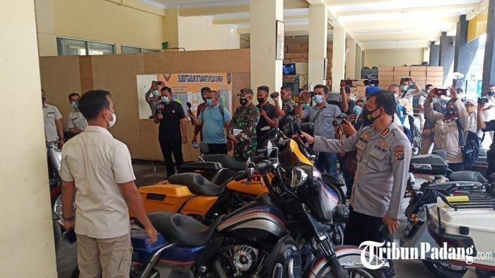 Polisi Pastikan 5 Motor Milik Anggota Klub Moge yang Pengeroyok Anggota TNI di Bukittinggi Bodong