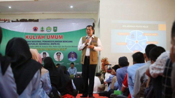 Cegah Karhutla, BNPB Gandeng Universitas Riau Maksimalkan Peran Sosial Mahasiswa pada Kegiatan KKN