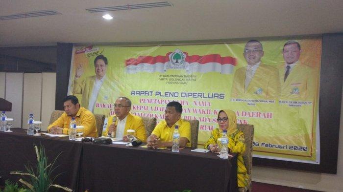 Penetapan Calon Kepala Daerah Asal Golkar di Riau Diserahkan Kepada Ketua DPD I