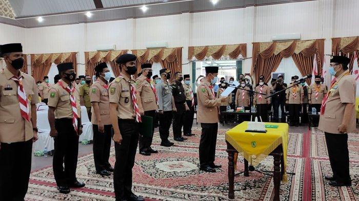 Ketua Kwarda Riau Lantik Mabicab Rokan Hilir 2021-2026