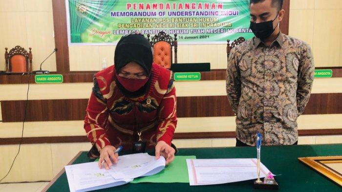 Teken MoU, LBH Tuah Negeri Nusantara Kembali Dipercaya Isi Posbakum di PN Siak