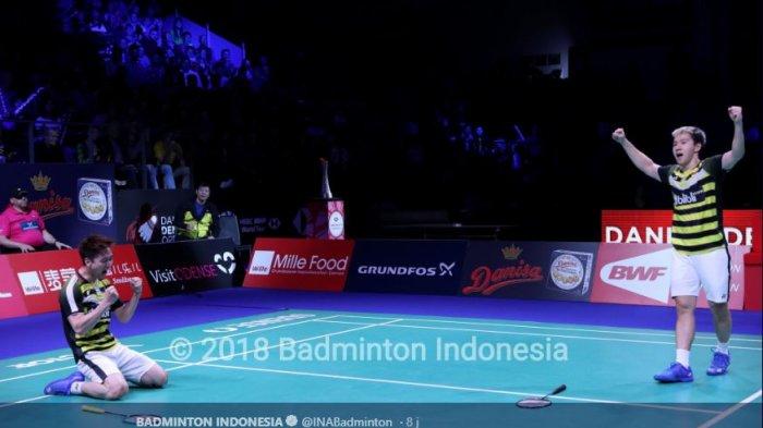 Video Detik-detik Kevin Sanjaya/Marcus Gideon Juarai Denmark Open 2018