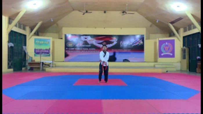 Tisan Siregar Raih Emas di Kejuaraan Gorontalo Internasional Virtual Championship Taekwondo 2021