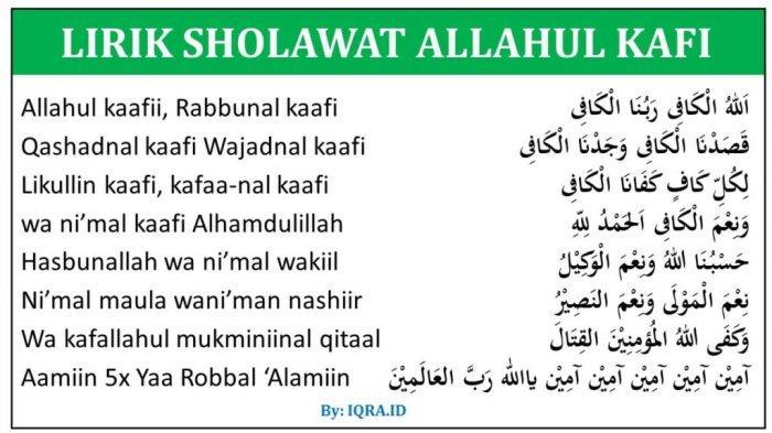 Doa Allahul Kafi Robbunal Kafi Beserta Bacaan Sholawat Allahul Kafi, Keutamaan dan Khasiatnya