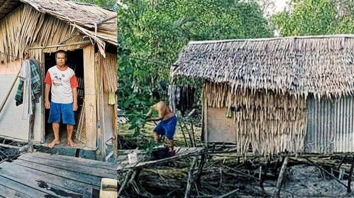 Kisah Hamar, Pria di Inhil yang Harus Mengungsi Setiap Air Pasang, Rumah Gubuknya Memprihatinkan