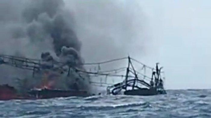 KRONOLOGI KM Hentri Terbakar di Lau Maluku:Berawal dari Api di Kamar Mesin
