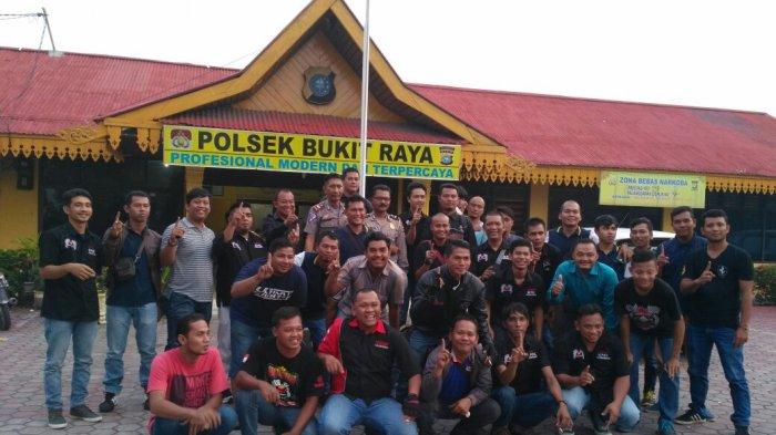 Polsek Bukit Raya Ramah Tamah Bersama Komunitas RX King Pekanbaru