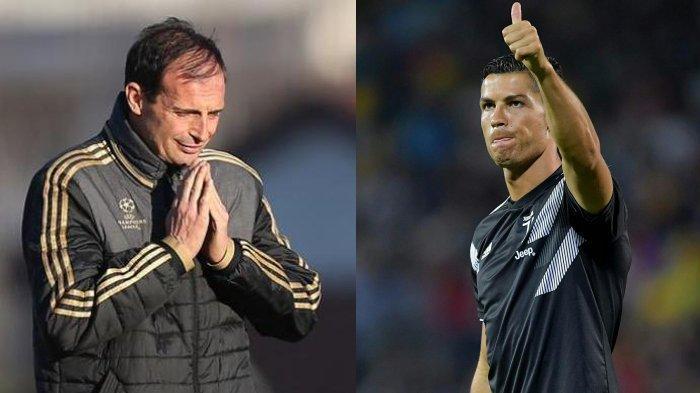 Liga Italia : Dikabarkan tak Suka Ronaldo, Allegri Akhirnya Bertemu dengan CR7, Apa yang Dibicarakan
