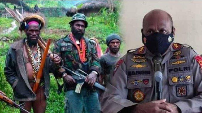 Kolase KKB Papua dan Kapolda Papua, Irjen Mathius D Fakhiri.