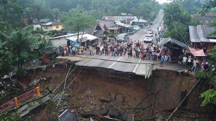 Jalan Alternatif Pekanbaru-Padang Pasca Putusnya Jembatan Batang Kalu Kayu Tanam & Longsor