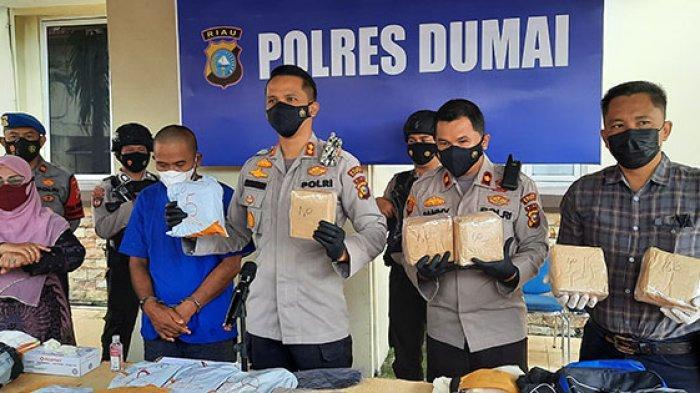 Rp20 Juta Belum Dikantongi,Sudah Dibekuk Polisi,Pria di Dumai Simpan 17Kg Sabu di Tempat Tak Terduga