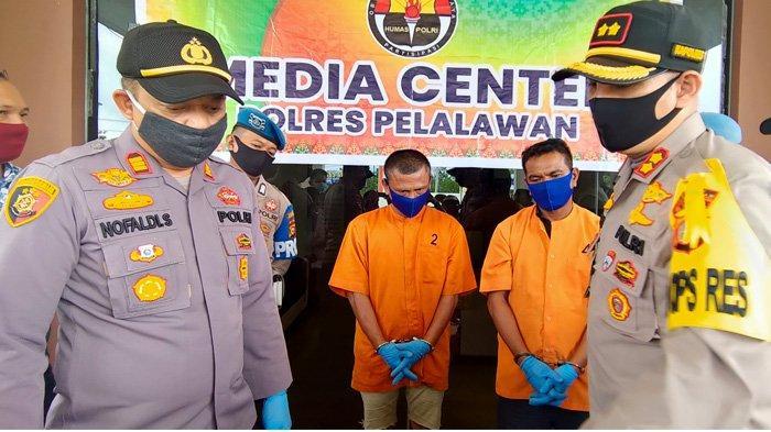 Kerap Minta Japrem ke Sopir di Jalintim Pelalawan, Dua Pelaku Pungli Modus Piloks Diringkus Polisi