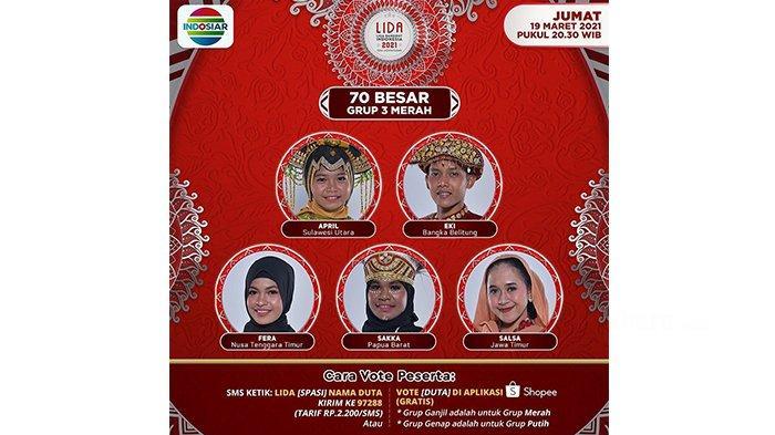 Aldi Bengkulu Tersenggol, Malam Ini Top 70 Grup 3 Merah Akan Tampil, Siapa yang Lolos?