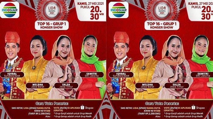 Babak konser show TOP 16 Grup 1 LIDA 2021 Indosiar