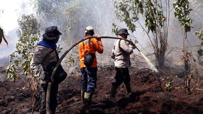 Kuala Kampar Masih Membara, Hotspot di Pelalawan 34 Titik, Pemadaman Karhutla di Riau Berlanjut