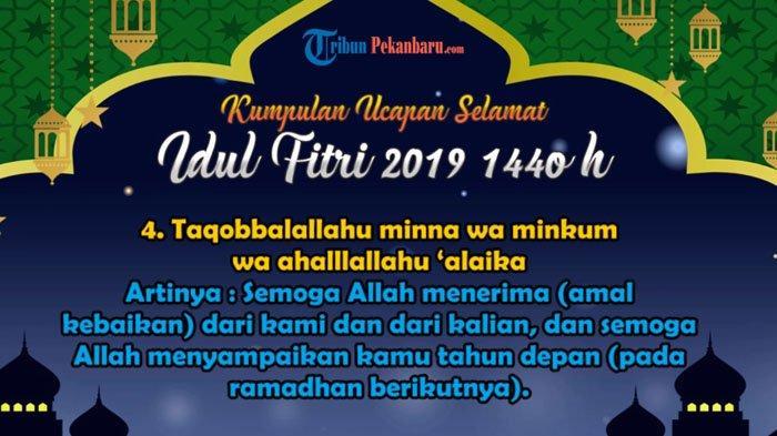 HASIL Sidang Isbat Tetapkan 1 Syawal 1440 H, Ini Kumpulan Ucapan Selamat Hari Raya Idul Fitri