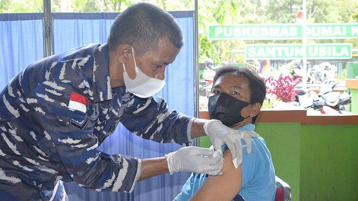 Antrean Memanjang Tiap Ada Vaksinasi Massal, Sudah Segini Warga Dumai yang Divaksin Covid-19